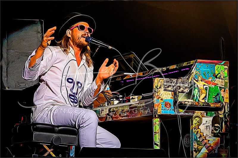 Marco Benevento  <br /> June 13, 2019  <br /> Mountain Jam 2019  <br />  ©Stuart M Berg<br /> <br /> Barco Benevento - Keyboards   <br /> Karina Rykman - Bass   <br /> David Butler - Drums