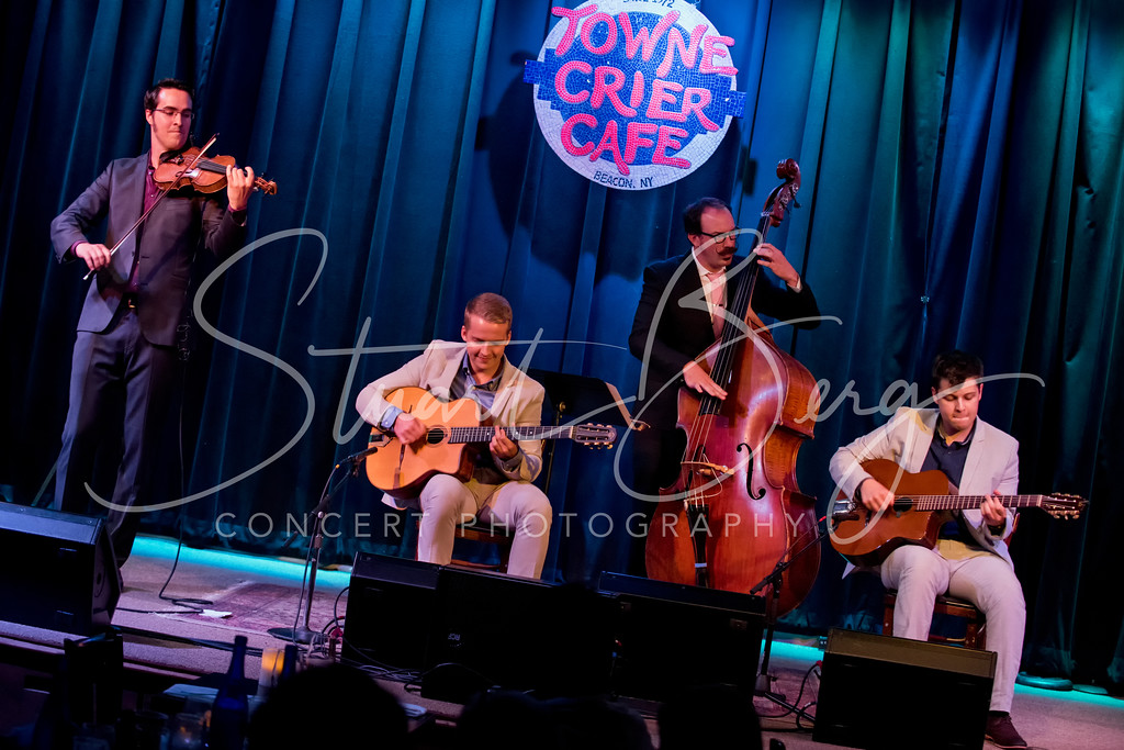 Rhythm Future Quartet  <br /> Towne Crier Cafe, Beacon, NY  <br /> 9-4-15  <br /> Photo by Stuart Berg  <br /> <br /> Jason Anick; Oli Soikkeli; Zack Hickman;Max O'Rourke