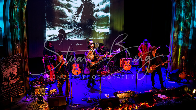 Slambovian Circus of Dreams  <br /> A Sleepy Hollow Halloween    <br /> October 27, 2018  <br /> Irvington Town Hall Theater   <br /> Irvington, NY   <br />  ©Stuart M Berg  <br /> <br /> Slambovian Circus of Dreams  <br /> Joziah Longo - Lead Vocals, Guitar, Harmonica  <br /> Tink Lloyd -  Accordian, Cello, Flute, Melodica, Therimen,  Percussion, Vocals  <br /> Sharekey McEwen -  Guitar, Vocals  <br /> Bob Torsello - Bass, Vocals  <br /> Felipe Torres  - Drums, Percussion, Vocals  <br /> Tristan Tadin - Keyboards, Guitar, Vocals  <br /> Dio Tadin - Guitar, Vocals   <br /> Gary Lucas - Guitar   <br /> RJ Mac Carthaigh - Saxaphone   <br /> Carolyn Hricik - Vocals