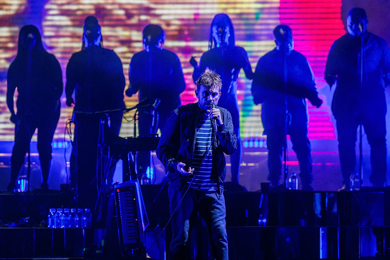 Gorillaz perform at KeyArena in Seattle