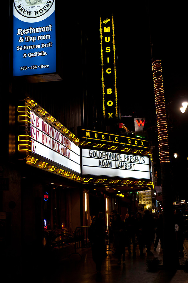 Adam Lambert, Glam Nation LA, Music Box 12/15/10