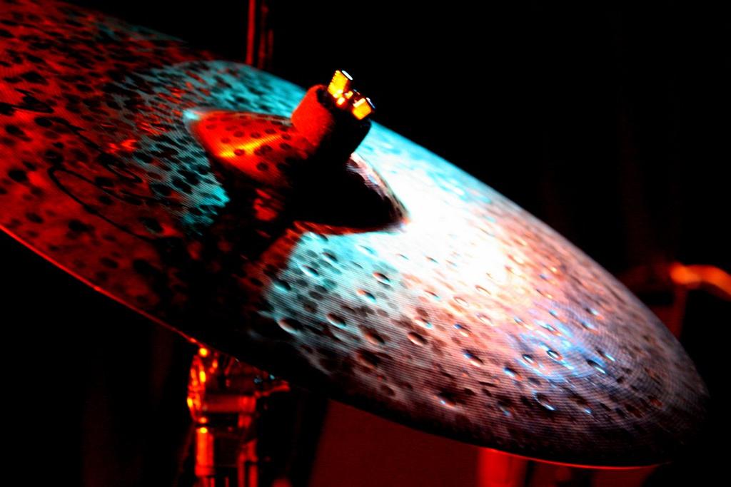 Light reflecting off cymbal.