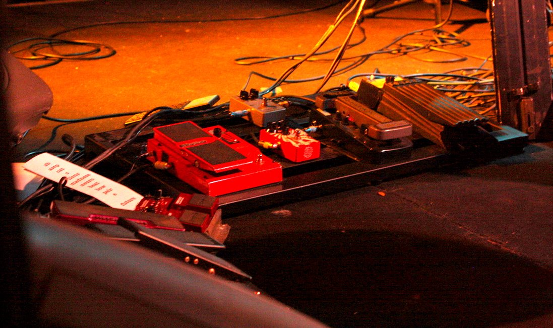 Just a few of his pedals...only about half.