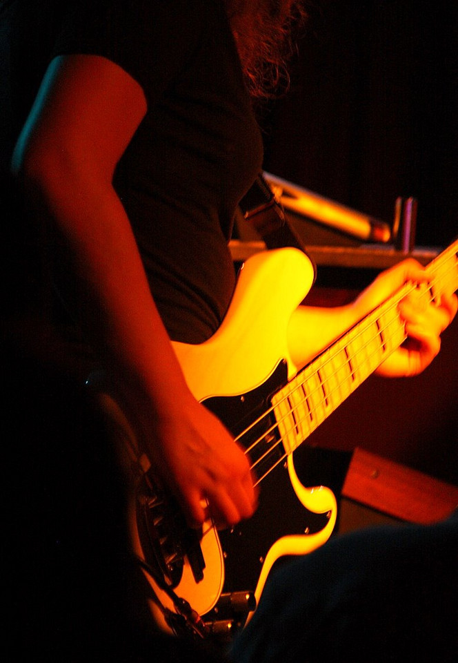 Another decent shot of Julie's Lakland bass.