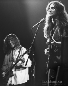 Rush  Geddy Lee and Alex Lifeson of Rush playing at the Pacific Coliseum in 1980