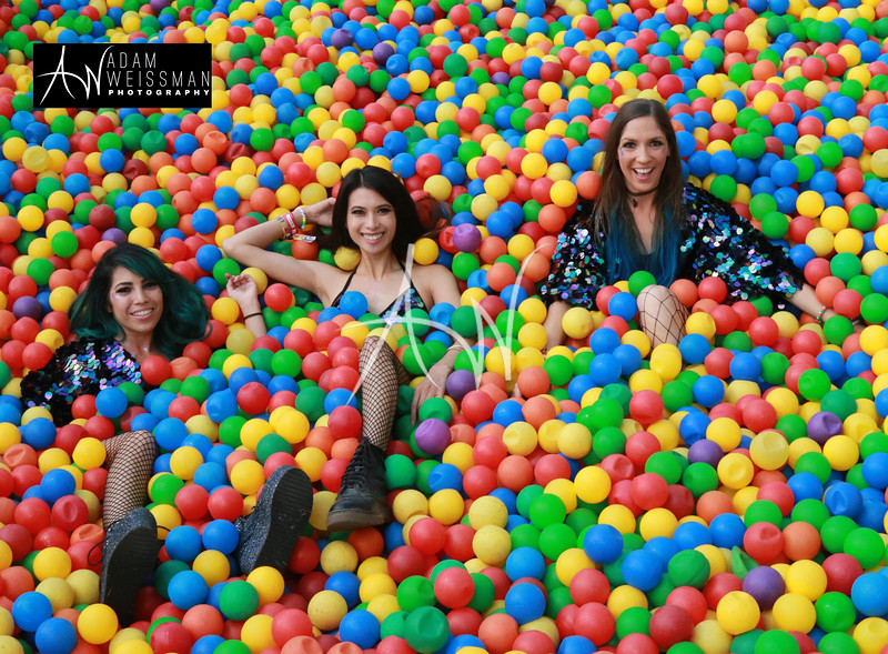 Festival Goers in Ball Pit at EDC Orlando @ Tinker Field 2017 - Saturday