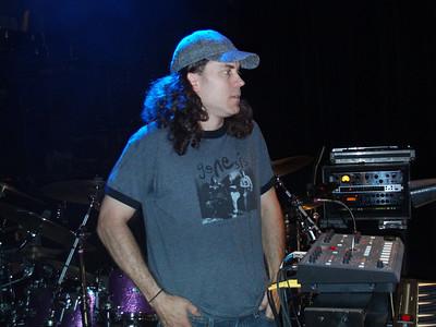Jamie during sound check.