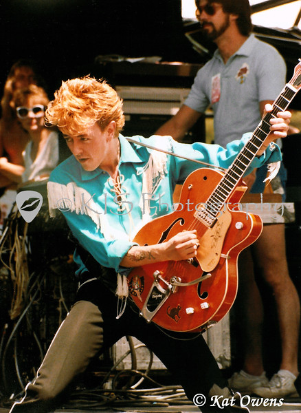 Brian Setzer of Stray Cats, Moutain Aire Festival, Angels Camp, CA, June 4, 1983