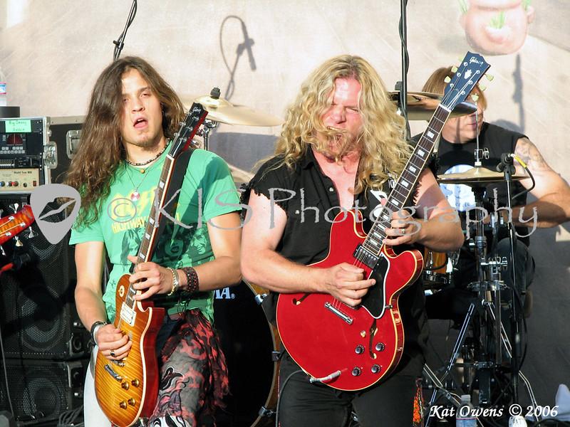 Dave Rude & Frank Hannon of Tesla at the Bone Bash