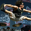 Randy of SONE @ the Bone Bash doing the splits in mid air!