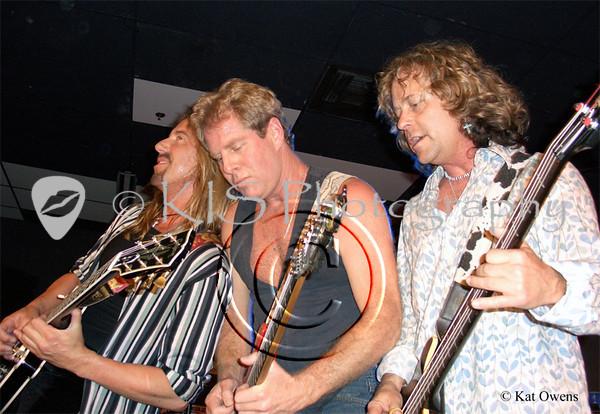 Jeff Watson, Brad Gillis and Jack Blades at the Avalon in Santa Clara, April 2005.