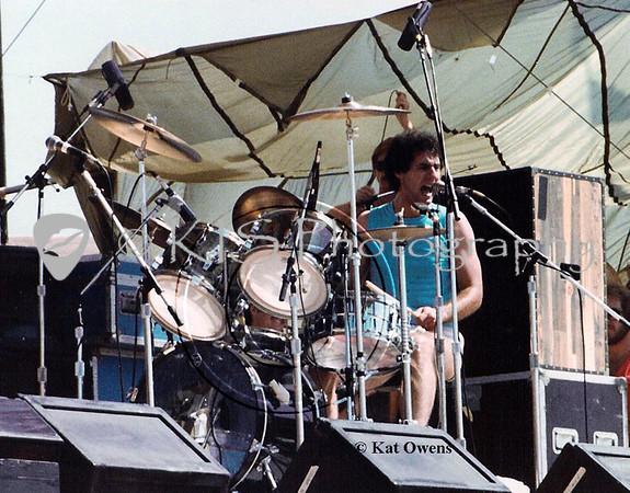 Kelly Keagy, 1981 Rocking The Capitol concert, Sacramento, CA.