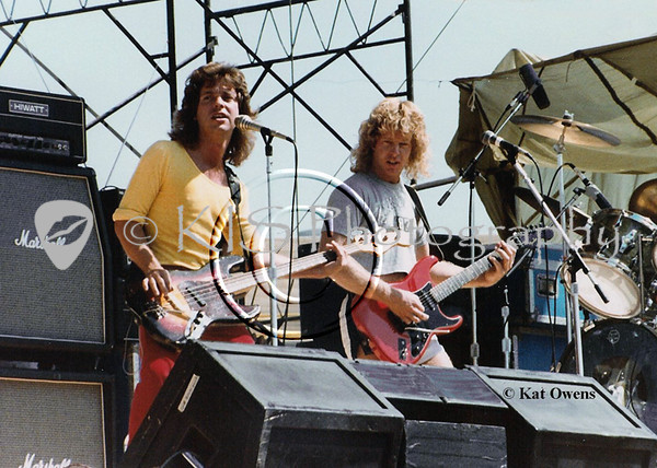 Jack Blades and Brad Gillis, 1981 Rocking The Capitol concert, Sacramento, CA.
