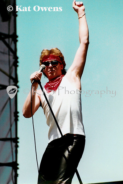 Loverboy, Mike Reno at Mountain Aire 82 in Angels Camp, CA