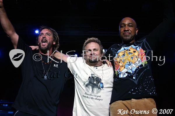 David Lauser, Michael Anthony and Vic Johnson