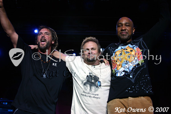David Lauser, Michael Anthony and Vic Johnson