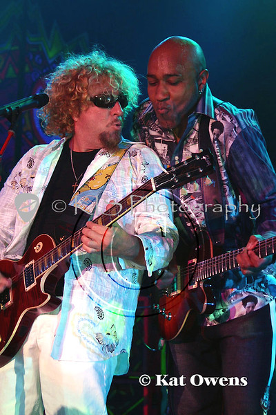 Sammy Hagar and Victor Johnson, Tahoe, April 29, 2005.