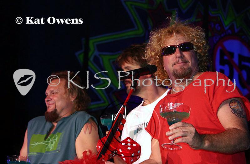 Michael Anthony, David Lauser and Sammy Hagar, Tahoe, April 29, 2005.