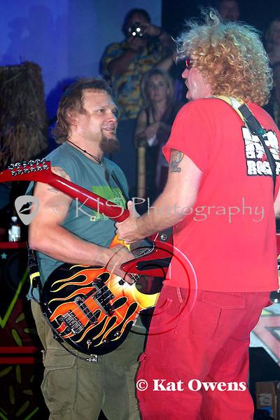 Michael Anthony and Sammy Hagar, Tahoe, April 29, 2005.
