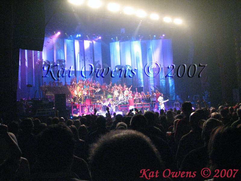 This was my view when the 3 song photo pass was over.  The following pictures were shot from here, which is why they are so grainy. All of these photos were also shot with my small Canon point & shoot.