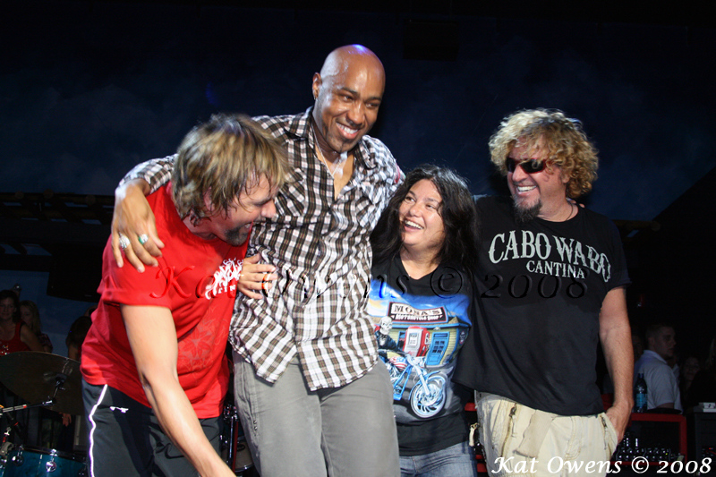 David Lauser, Vic Johnson, Mona & Sammy Hagar