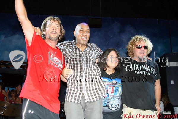 David Lauser, Vic Johnson, Mona & Sammy Hagar