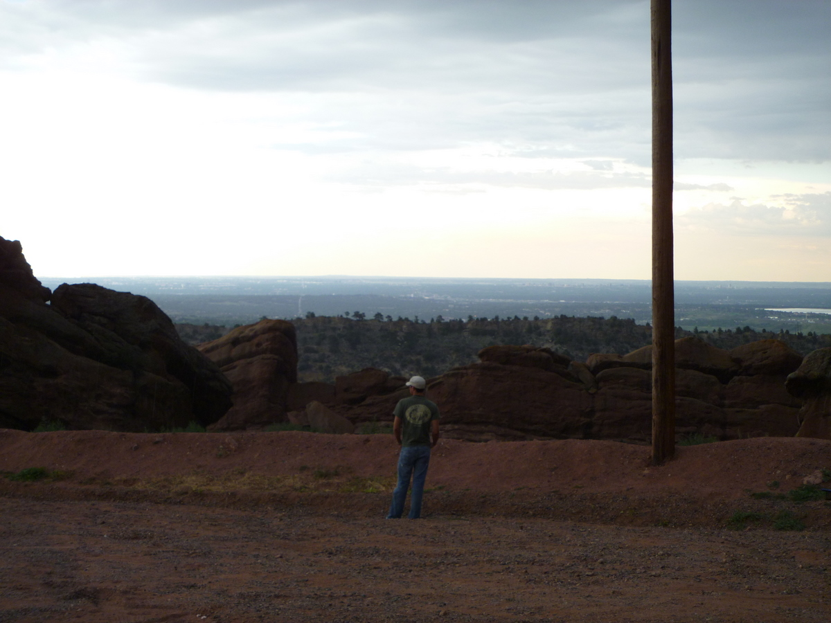 View to the east from the Red Rock parking lot.