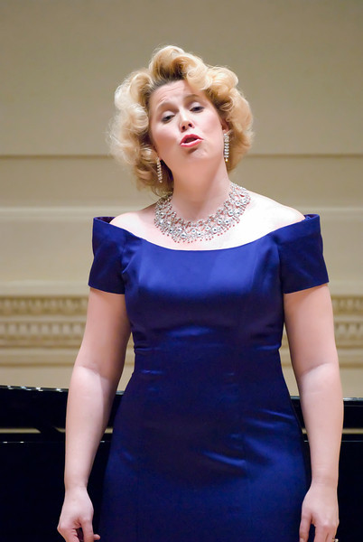 Caroline Worra, Soprano at Weill Hall at the Carnegie Hall Recital with Ryan McPherson, Tenor. Dr. Edwin Penhorwood, pianist and composer.