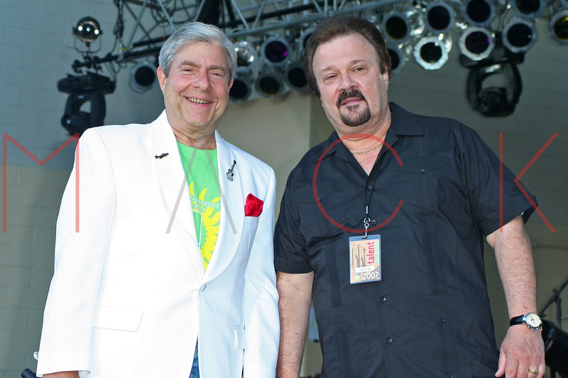 Marty Markowitz, Don K. Reed at the Summer Stage Concert Series at Asser Levy Park in Coney Island.  <center>New York, NY July 12, 2007 Photo by Steve Mack/S.D. Mack Pictures
