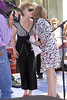 Meredith Viera greets Debrah Harry with Blondie in concert on The Today Show.