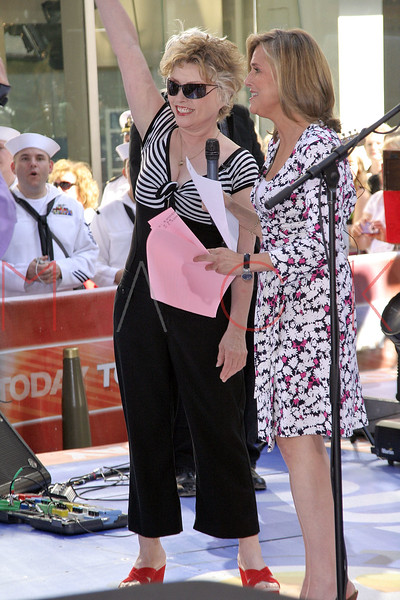 Meredith Viera interviews Debrah Harry with Blondie in concert on The Today Show.