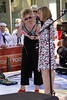 Meredith Viera interviewing Blondie in concert on The Today Show.