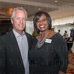 Mayor Greg Fischer and Pamela Broadus with Splendid Events.
