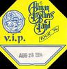 Allman Brothers V.I.P. pass