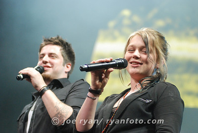 Lee DeWyze and Crystal Bowersox @ American Idol Live! Wachovia Center, Philadelphia, PA July 11, 2010