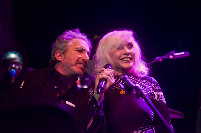 "Debbie Harry and Williard Morgan singing ""The Tide is High"""