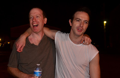 James Allan of Glasvegas with photographer, Joe Ryan<br />  The Note in West Chester, Pennsylvania.<br /> May 25, 2011.