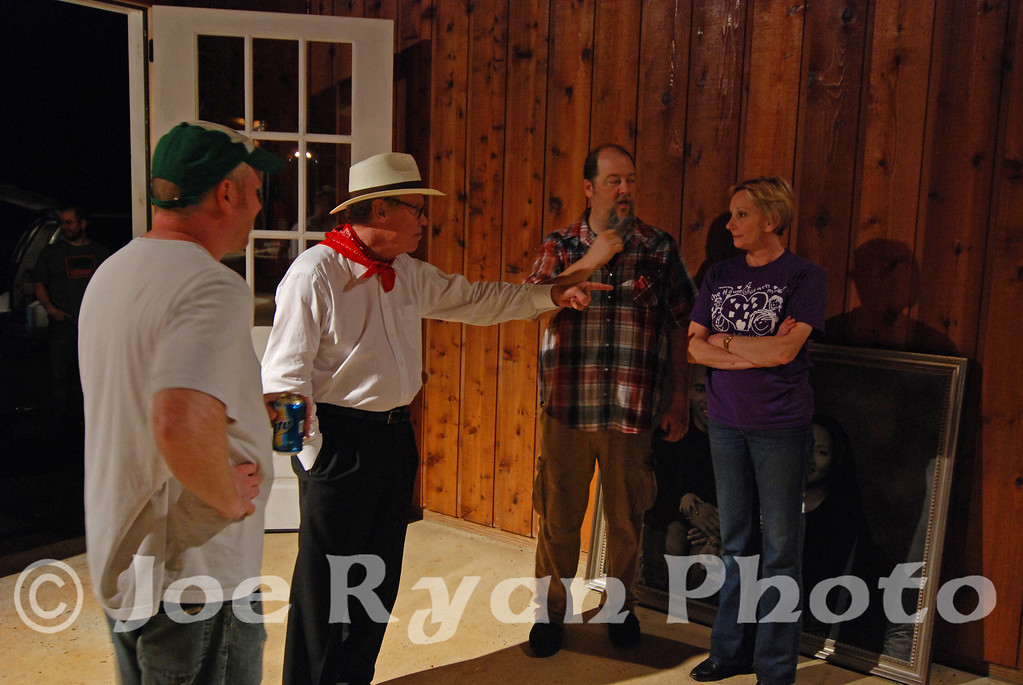 TV & Movie director, Hugh Wilson, takes a moment with Claude & Kevin after the show<br /> Keswick, VA <br /> May 30, 2009