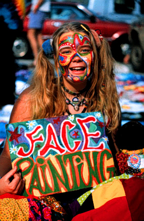 Face painting<br /> Omni Center, Atlanta, GA<br /> April 1, 1994