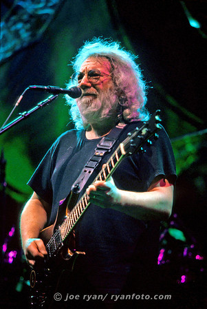 "Jerry Garcia of the Grateful Dead ""Franklin's Tower"" Boston Garden October 1, 1994"