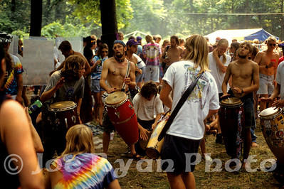 Drum circle at the Grateful Dead show  Buckeye Lake, OH July 29, 1994