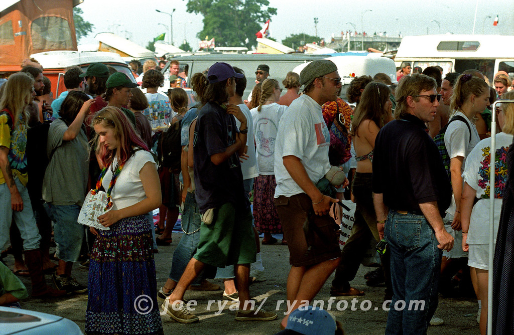 Deadheads in the parking lot<br /> Soldier Field, Chicago<br /> July 8, 1995