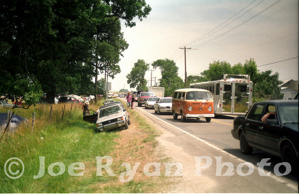 The rush to leave the campground after hearing of the show's cancelation<br /> Deer Creek <br /> July 3, 1995