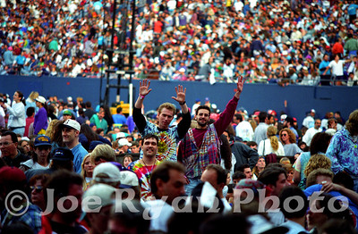 My good friends Paul, Phil & Chris Giants Stadium  June 6, 1993  This image once appeared on the front collage of the Official Jerry Garcia website.