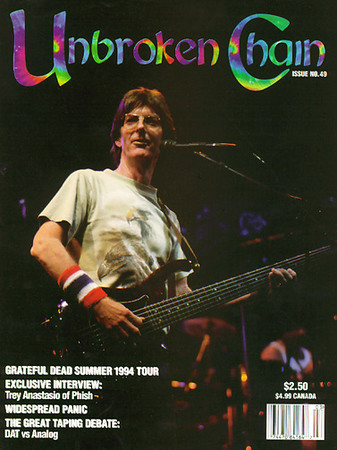 The first photo cover of Unbroken Chain magazine Issue #49, Fall 1994 Photo by Joe Ryan