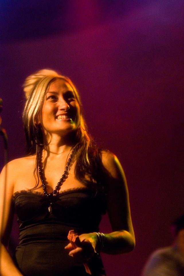 Tiare Helberg singing backup with The Church <br /> Trocadero Theatre, Philadelphia, PA<br /> February 15, 2011