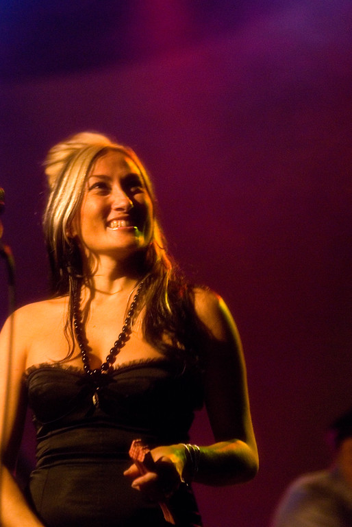 Tiare Helberg singing backup with The Church <br /> Trocadero Theatre, Philadelphia, PA<br /> February 15, 2011