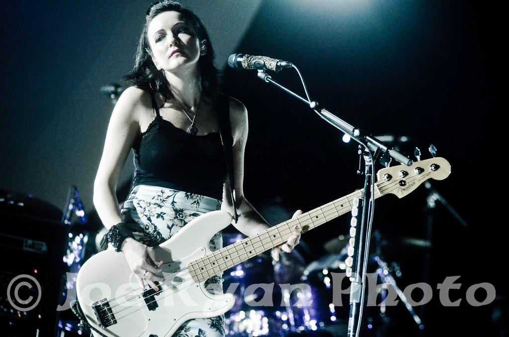 Nicole Fiorentino of Smashing Pumpkins<br /> Susquehanna Bank Center/ Camden, NJ <br /> December 8, 2012