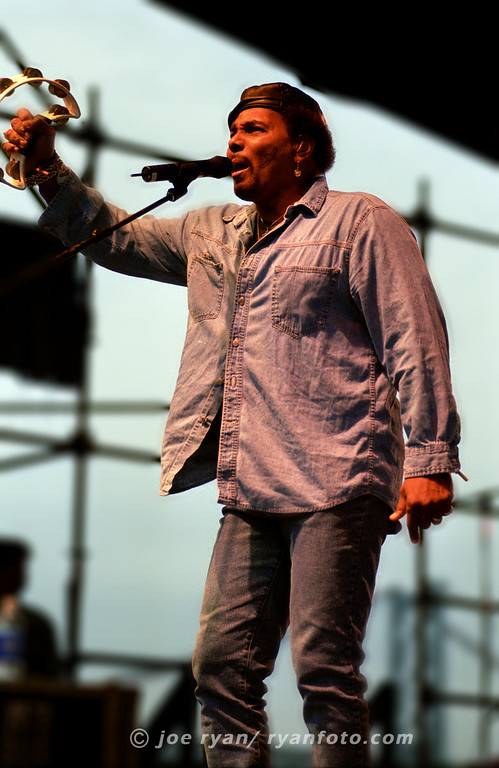 """Aaron Neville of the Neville Brothers at the """"Jam on the River"""" festival<br /> Penns Landing, Philadelphia, PA<br /> May 27, 2000"""