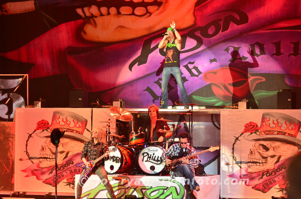 Poison<br /> 25th Anniversary Tour<br /> Camden, NJ<br /> July 16, 2011